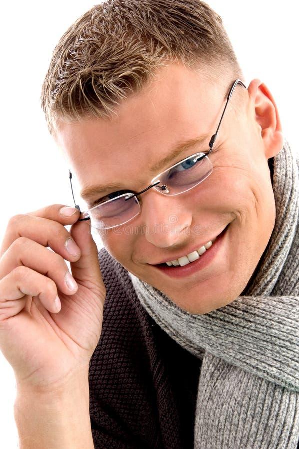 le slitage barn för eyewear manlig arkivbilder