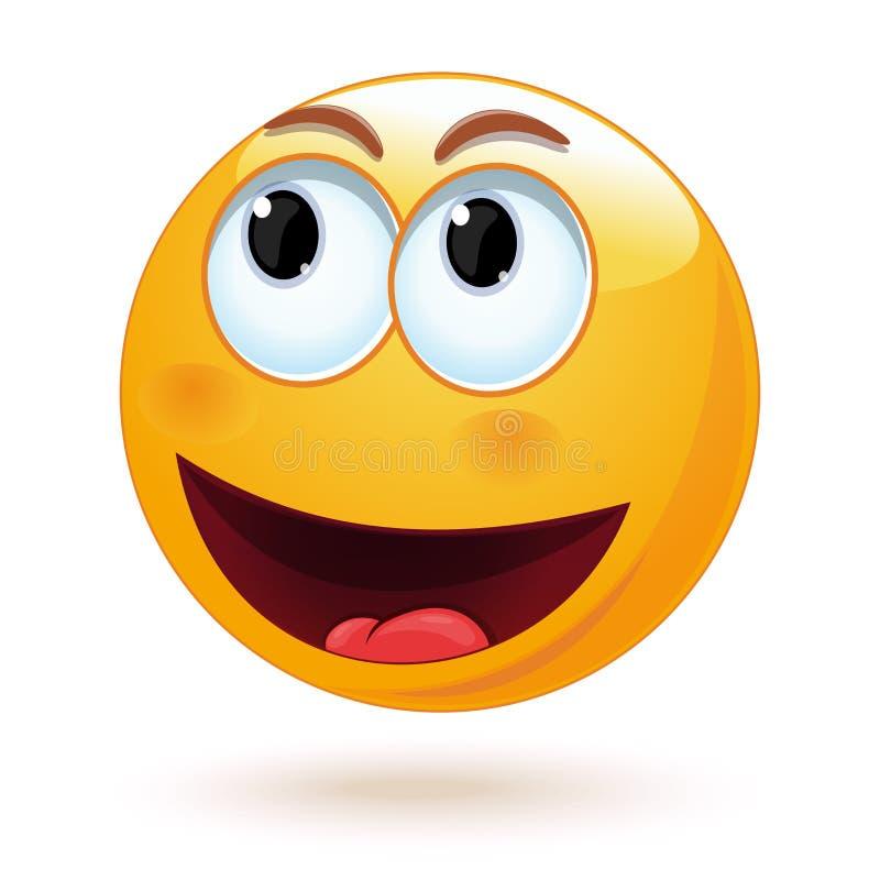 Le Smiley Joyeux Rit La Bouche Grande Ouverte Graphisme De Vecteur Illustration De Vecteur Illustration Du Smiley Vecteur 114997559