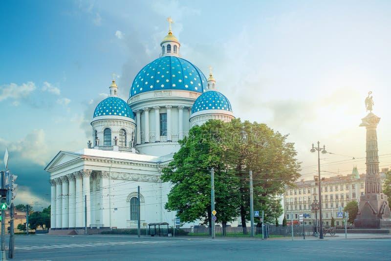 Le sobor de Troitsky de cathédrale de trinité ; Le sobor de Troitse-Izmailovsky, a parfois appelé la cathédrale de Troitsky images stock