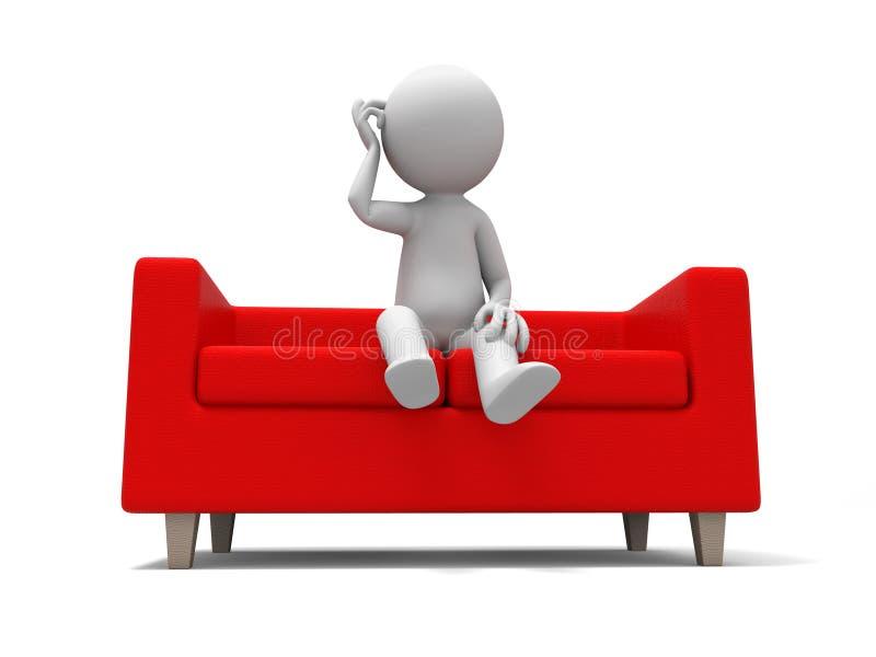 Le sofa illustration stock