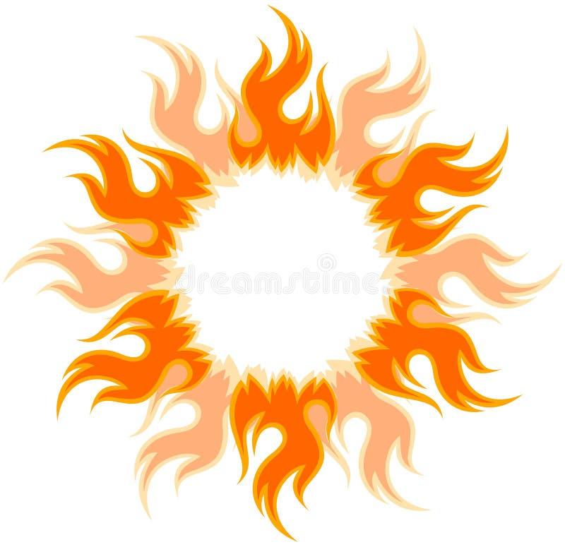 Le soleil ardent lumineux illustration de vecteur