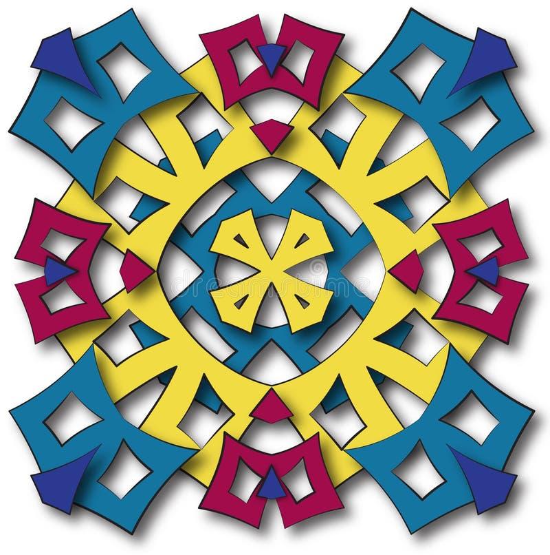 Le soleil aztèque de mandala illustration stock