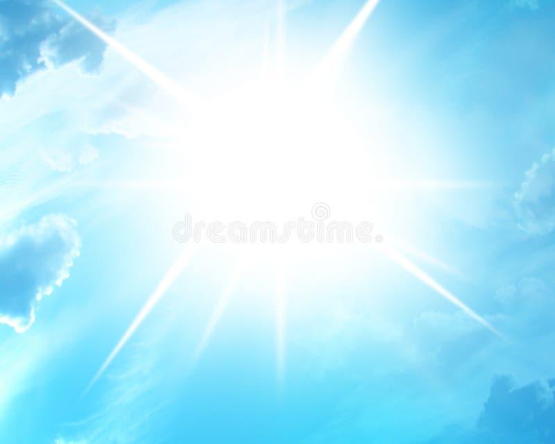 Le soleil bleu d'été illustration stock