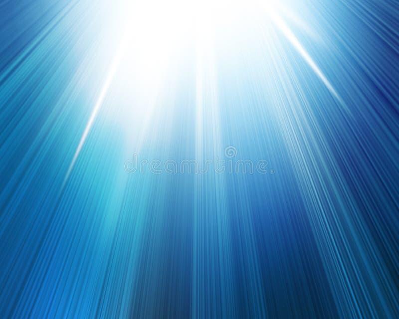Le soleil bleu d'été illustration de vecteur
