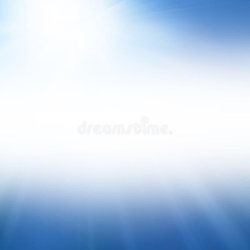 Le soleil bleu d'été illustration libre de droits