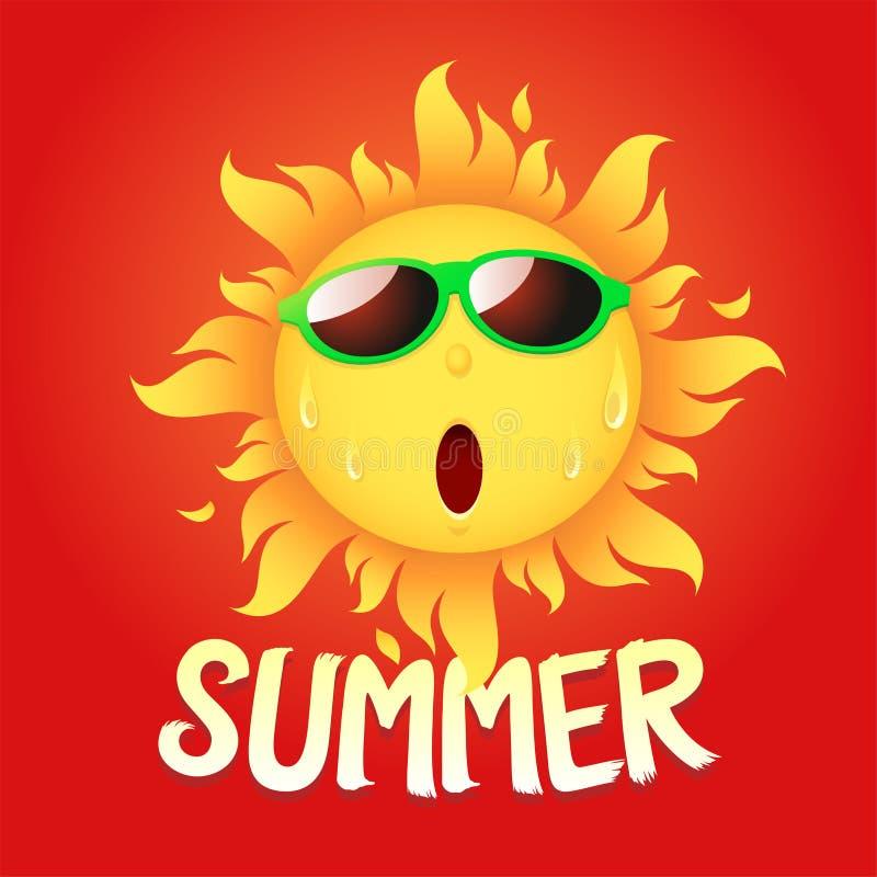Le soleil chaud illustration stock