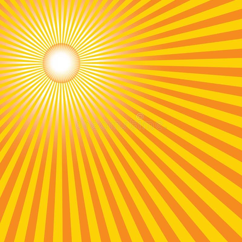 Le soleil chaud d'été illustration de vecteur
