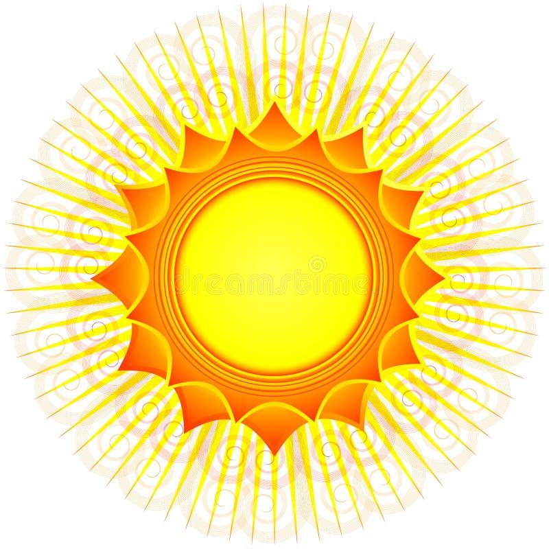 Le soleil décoratif (vecteur) illustration stock