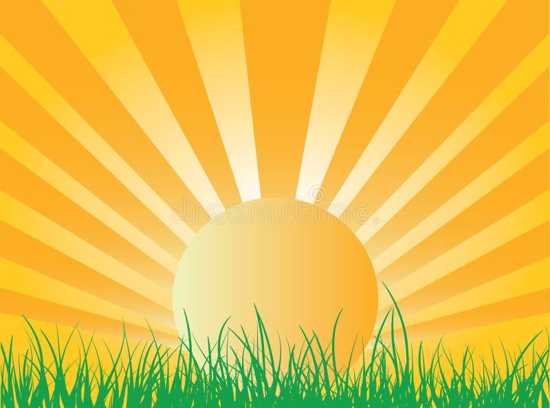 le soleil d'élévation illustration de vecteur