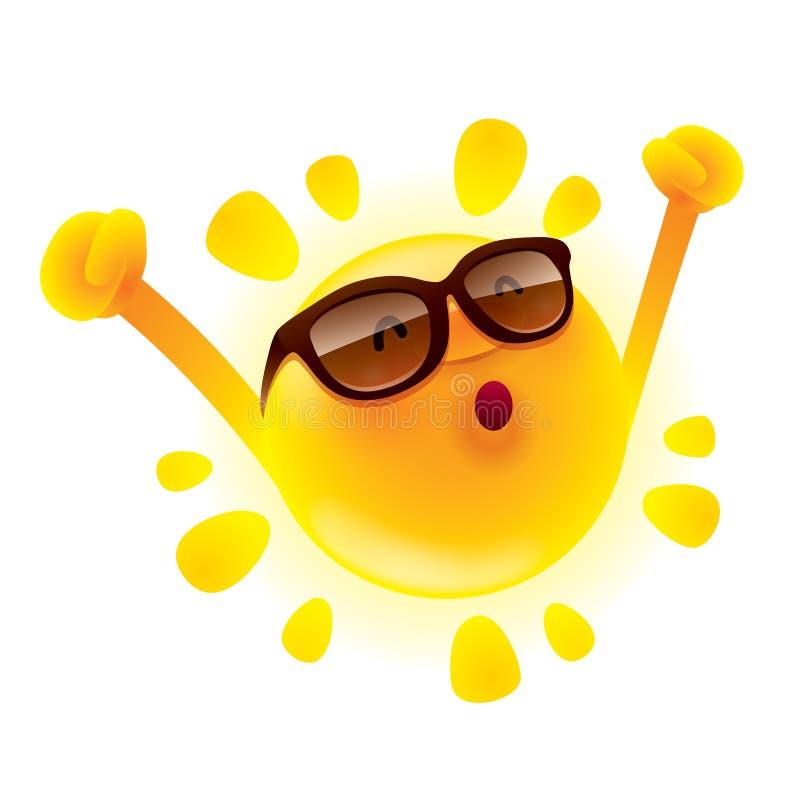 Le soleil d'été avec des mains  illustration libre de droits
