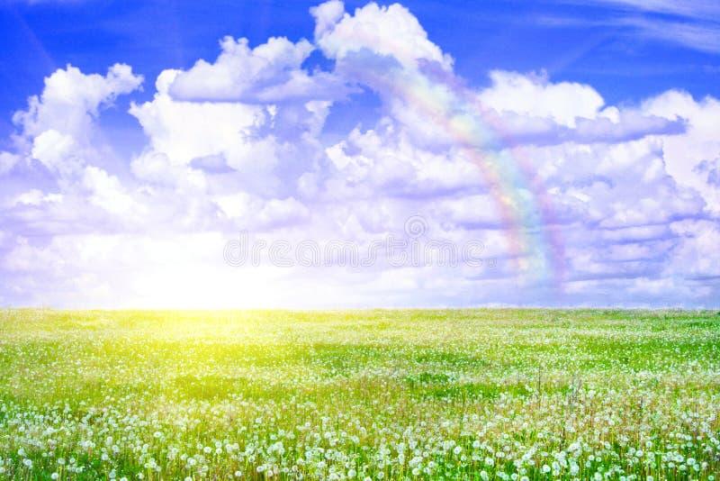 le soleil d'arc-en-ciel de zone photographie stock