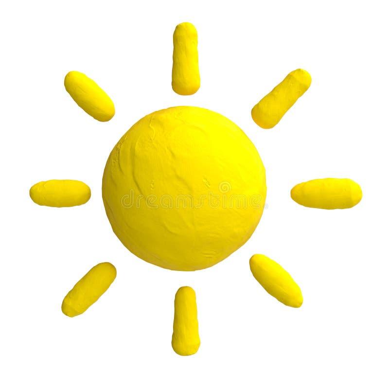 Le soleil de bande dessin e de la p te modeler ou de l 39 argile illustration stock - Argile verte coup de soleil ...