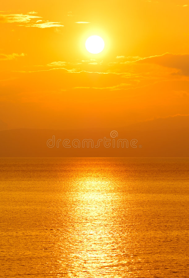 Le soleil de configuration photo stock
