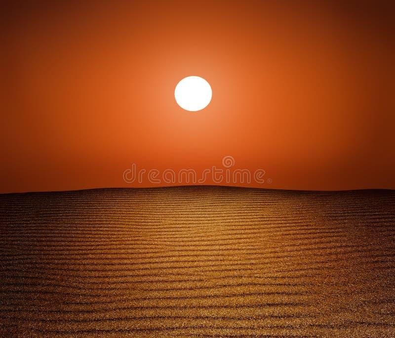 le soleil de désert photo libre de droits