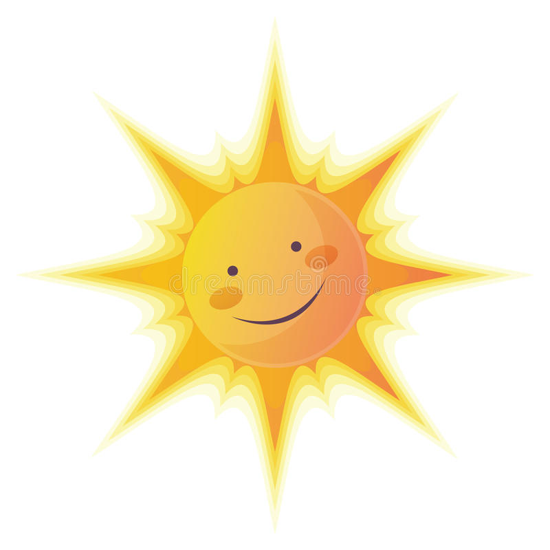 le soleil de dessin animé illustration stock
