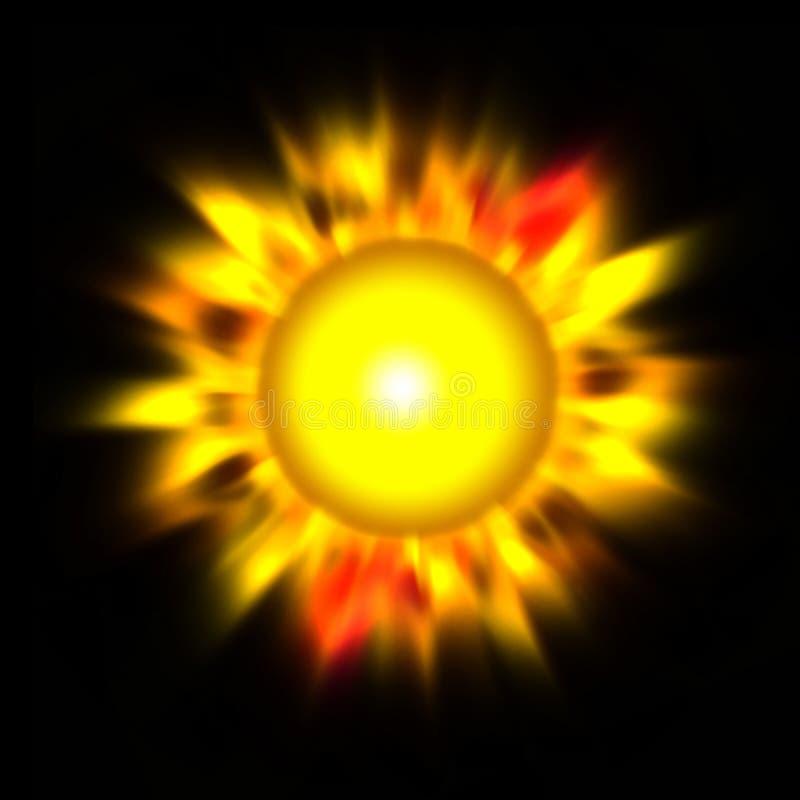 Le soleil de flambage illustration libre de droits
