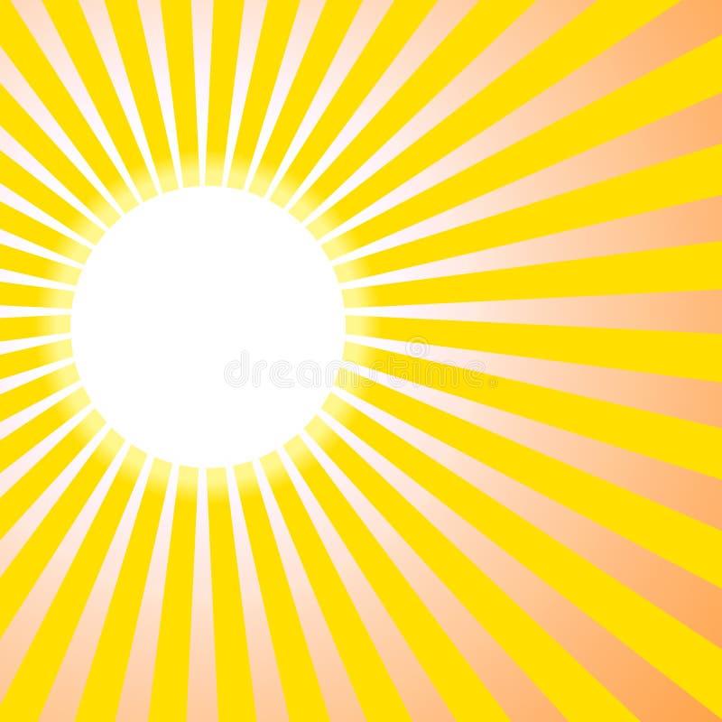 Le soleil de fond illustration de vecteur