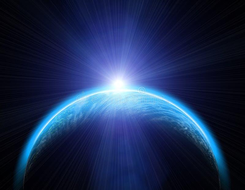 le soleil de la terre illustration stock