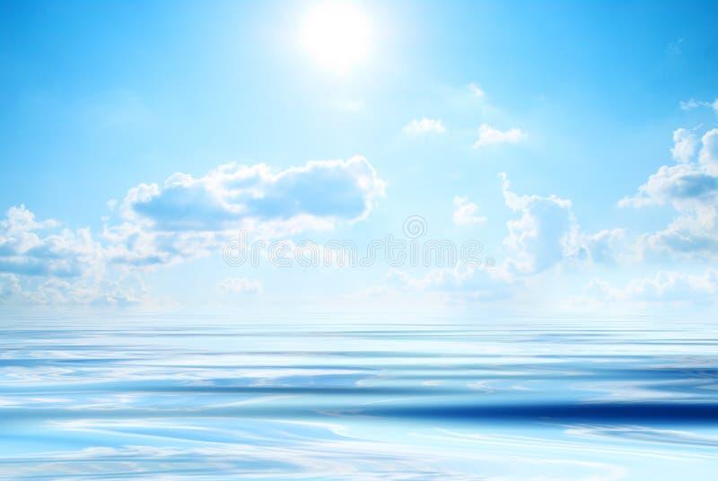 le soleil de mer images libres de droits