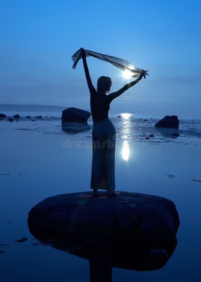 Le Soleil De Minuit Photo libre de droits