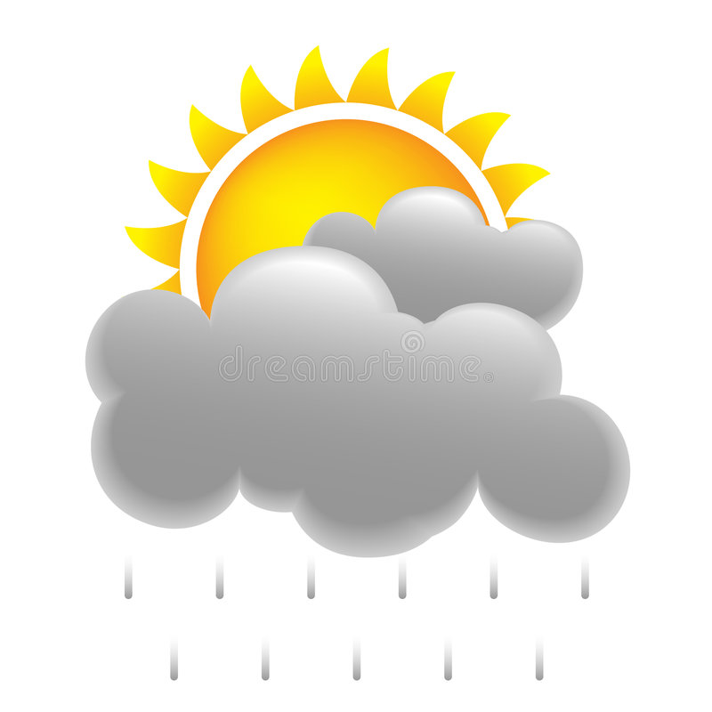 le soleil de pluie illustration de vecteur