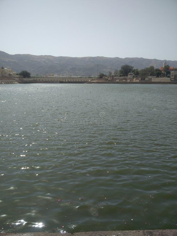 Le soleil de Pushkar de lac photo libre de droits