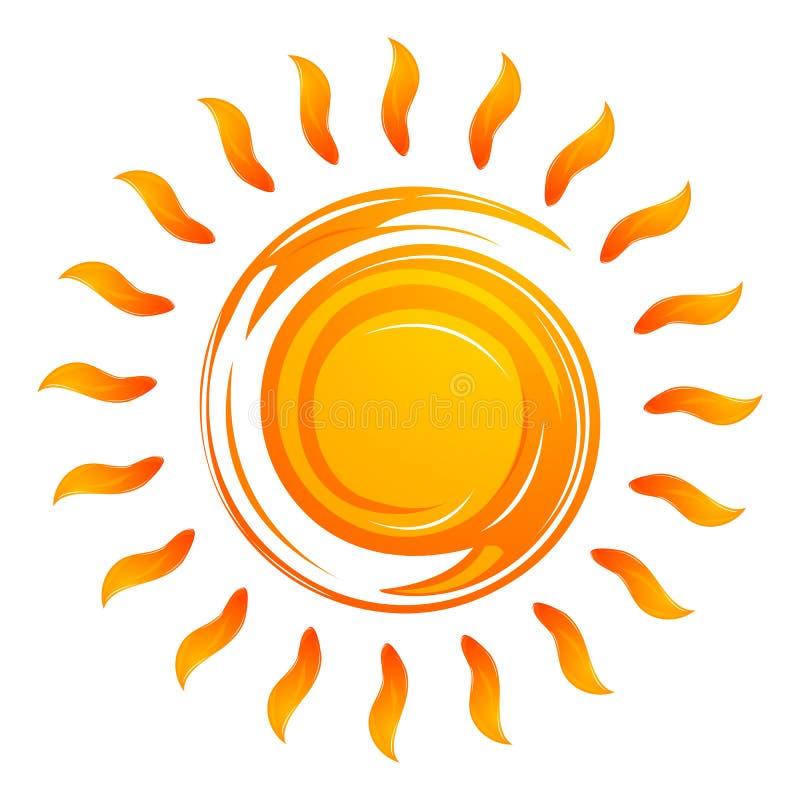 Le soleil de réchauffement illustration libre de droits
