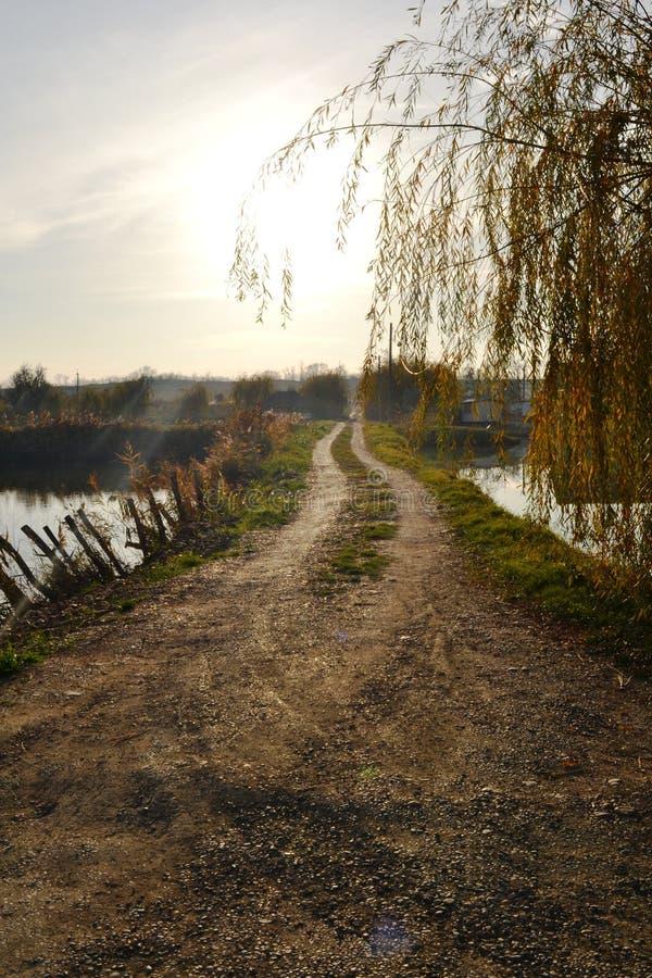Le soleil de route image libre de droits