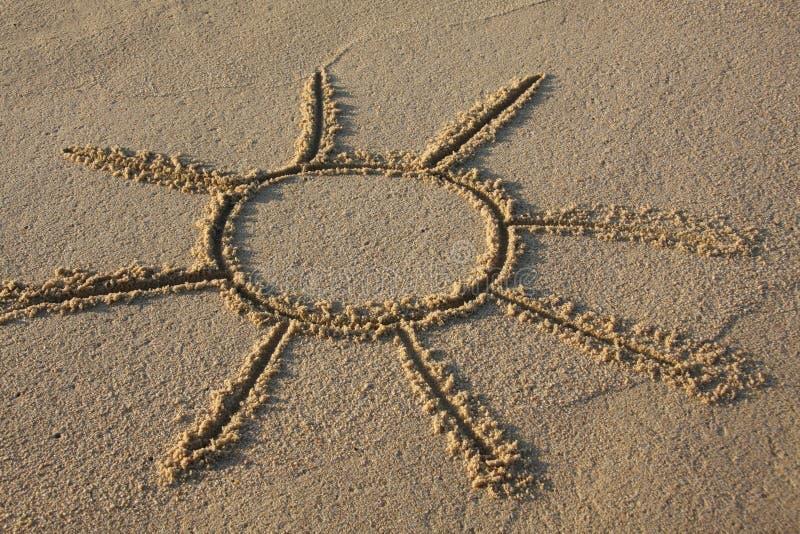 Le soleil de Sandy photographie stock libre de droits