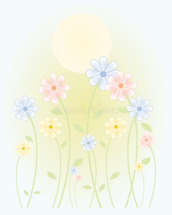 Le soleil de source illustration stock