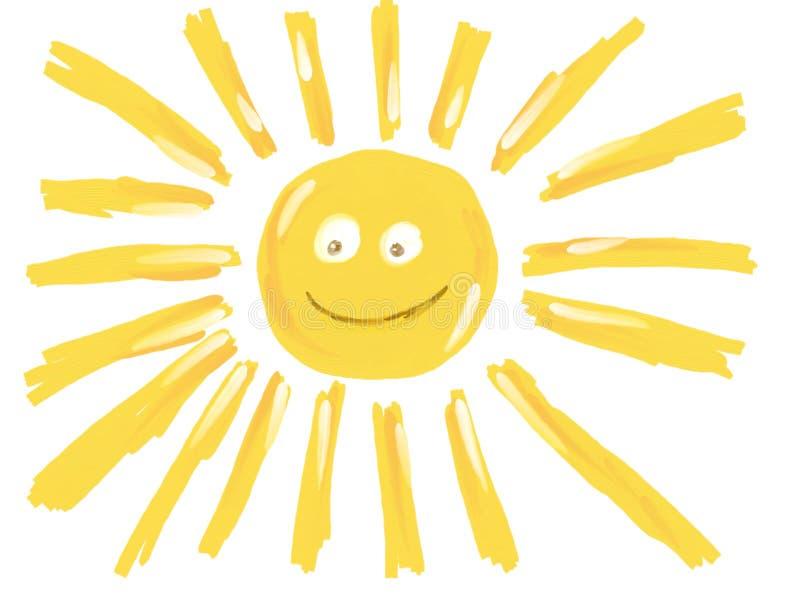 Le soleil de sourire drôle illustration stock