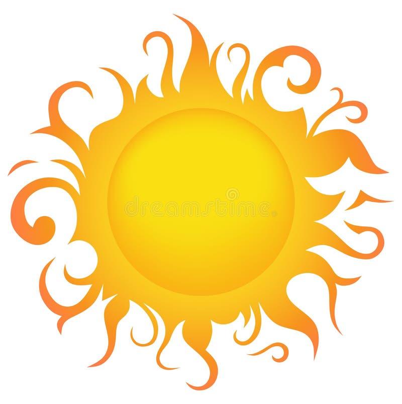 Le soleil de symbole illustration de vecteur