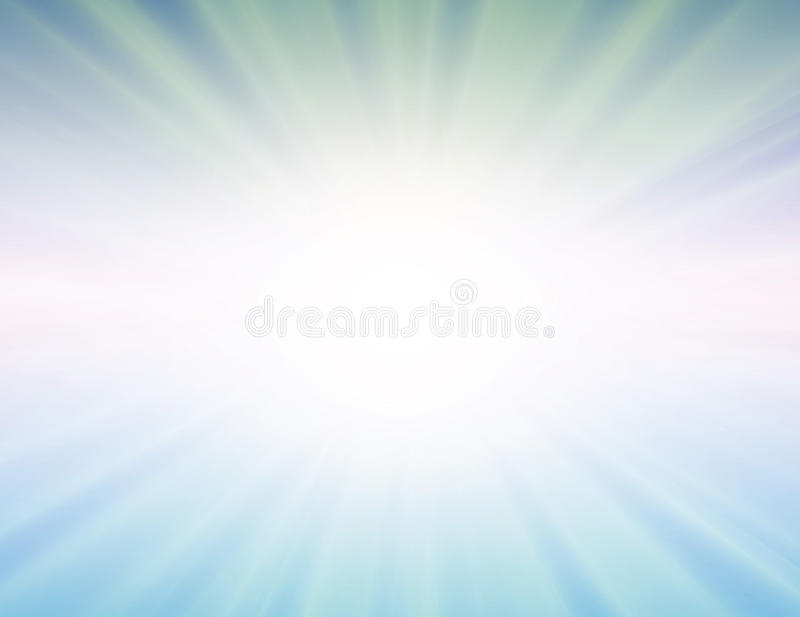 Le soleil de vecteur sur le fond bleu illustration de vecteur