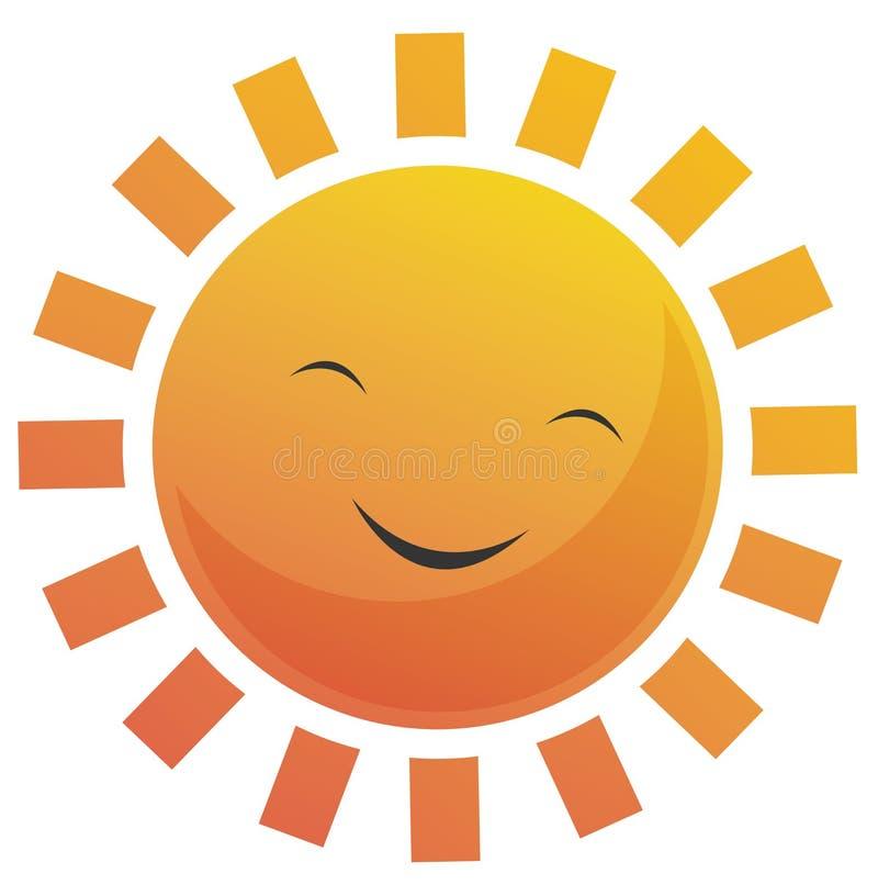 le soleil de visage de dessin animé illustration de vecteur