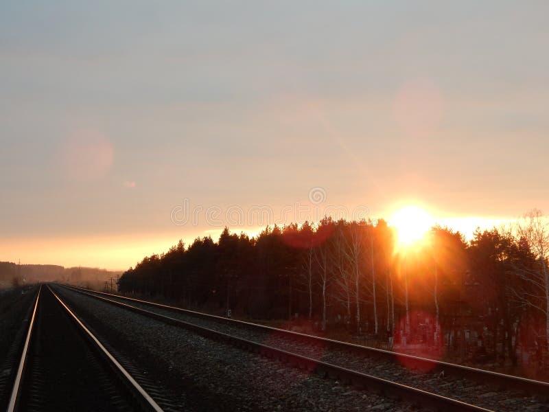 Le soleil distant de Fallin photographie stock libre de droits