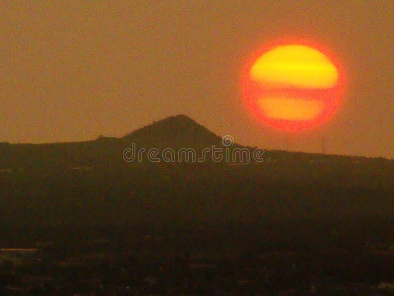 Le soleil fendu photos libres de droits