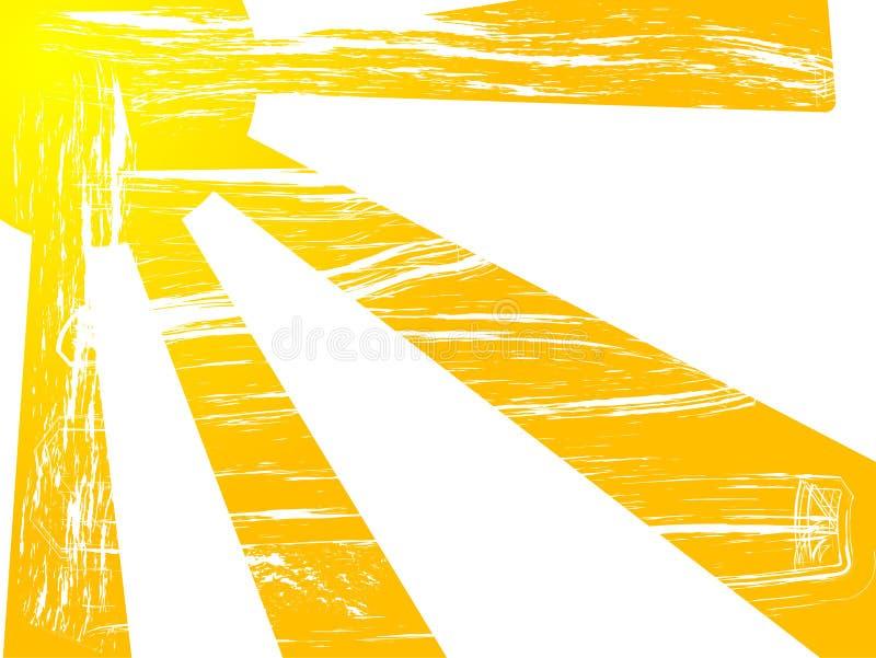 Le soleil grunge illustration de vecteur