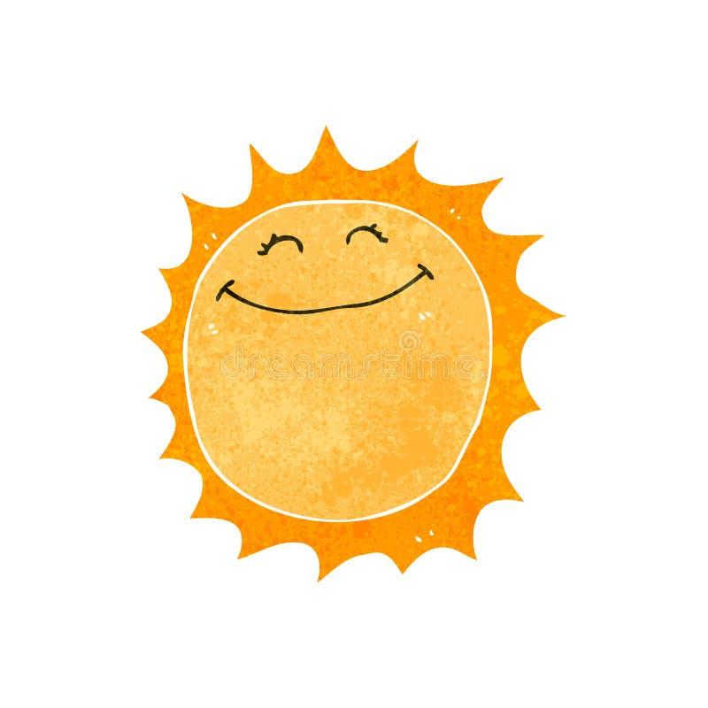 le soleil heureux de rétro bande dessinée illustration libre de droits