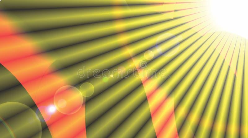 Le soleil jaune de fond d'été de rayons du soleil de rayon de fond de Sun de modèle brillant de rayon de soleil rayonne l'étoile  image libre de droits
