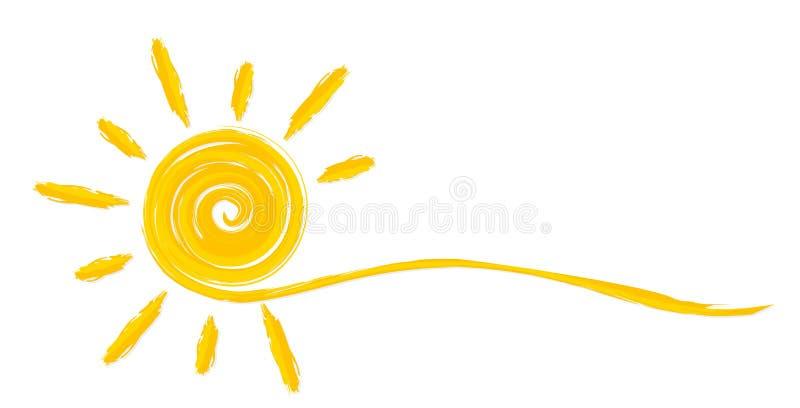 Le soleil lumineux d'été illustration stock