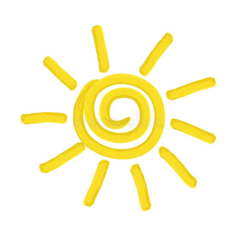 Le soleil peint - illustration illustration de vecteur