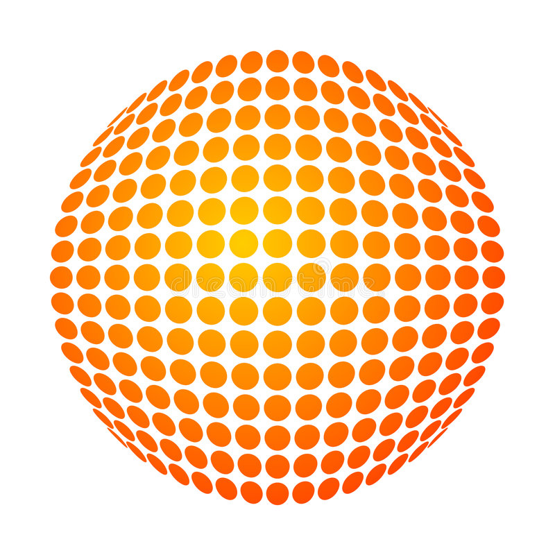 Le soleil pointillé illustration stock