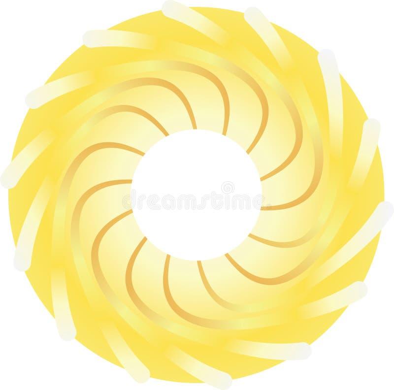 Le soleil stylisé illustration de vecteur