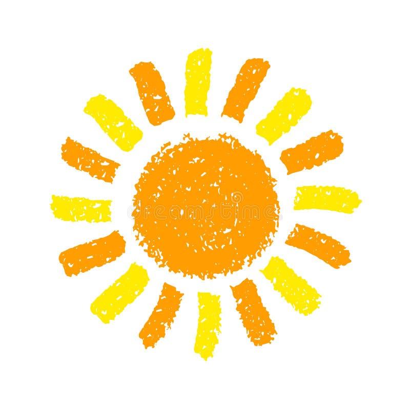 Le soleil tiré par la main illustration libre de droits