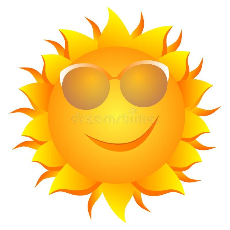 Le solen stock illustrationer