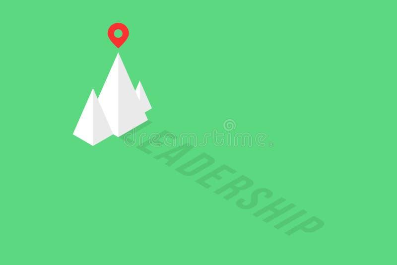 Le sommet de la montagne isométrique aiment le logo de direction illustration stock