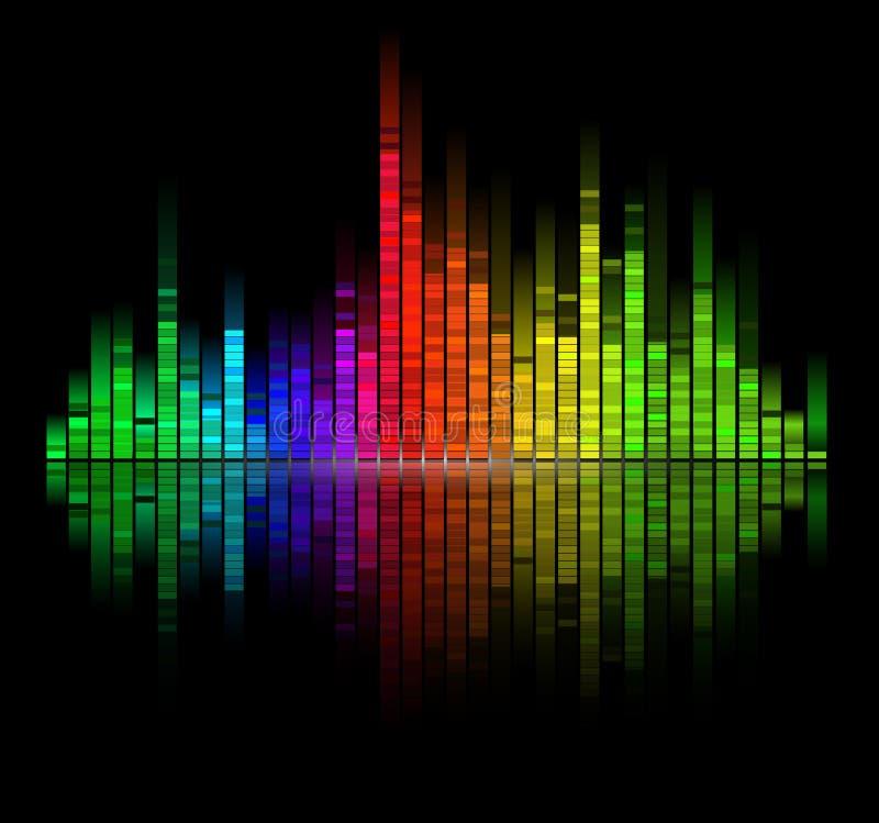 Le son digital de couleur s'égalisent illustration stock