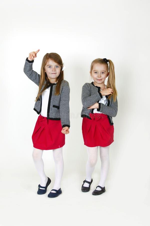 le sorelle di 6 anni immagine stock