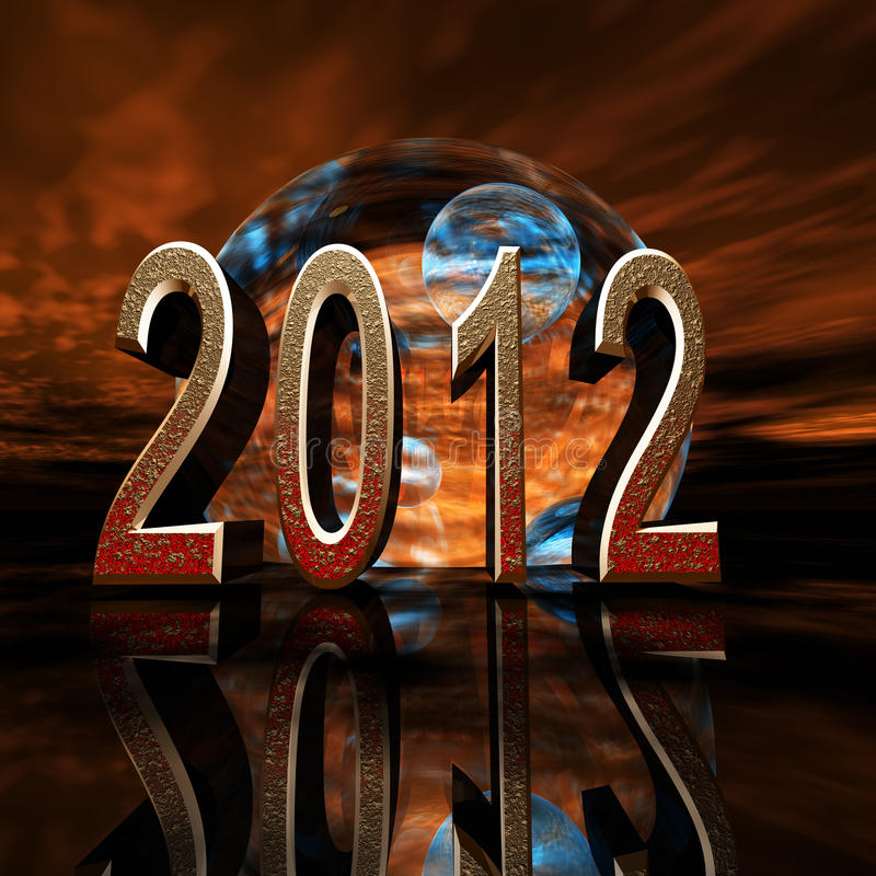 Le sort malheureux 2012 prévoient illustration de vecteur