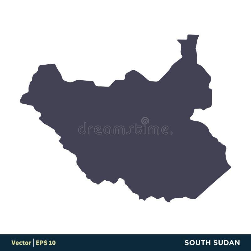 Le Soudan du sud - les pays de l'Afrique tracent le vecteur Logo Template Illustration Design d'icône Vecteur ENV 10 illustration libre de droits